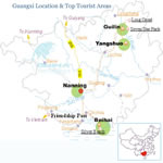 Guangxi Location & Top Tourist Areas Map