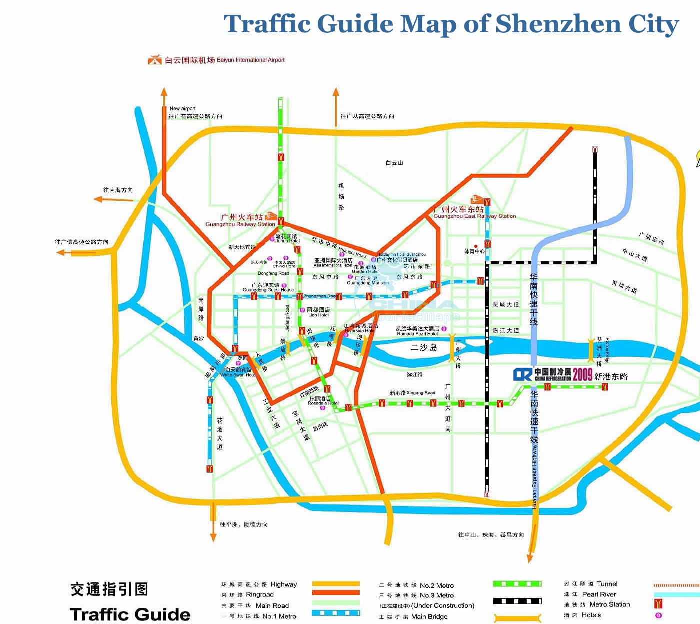 Guangzhou Transportation Map Guangzhou Transport