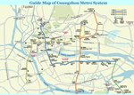 Guangzhou Metro System Guide Map