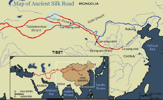 map of ancient silk road china silk road map. Black Bedroom Furniture Sets. Home Design Ideas
