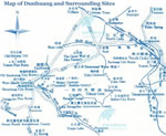 Dunhuang & Surrounding Sites Map