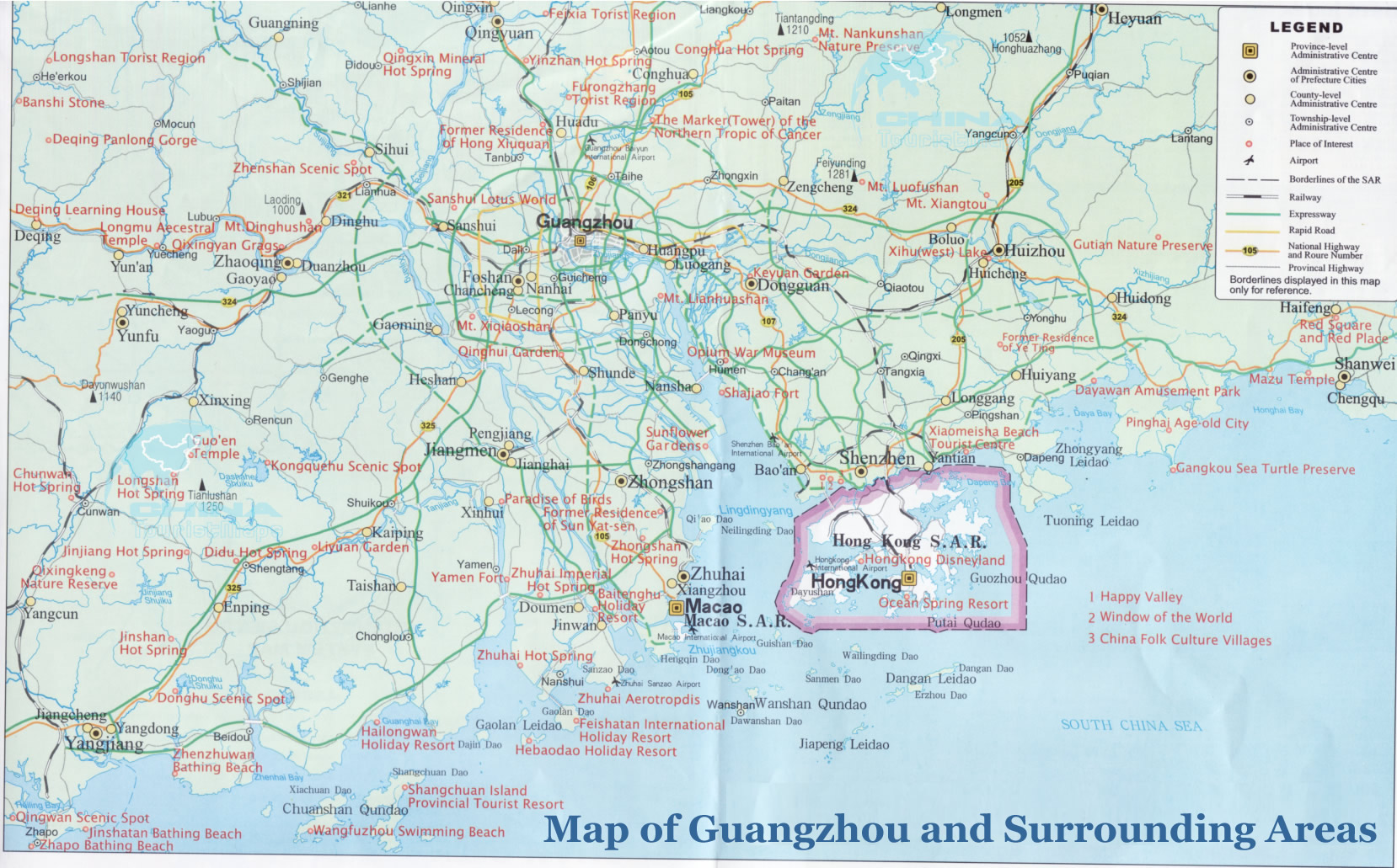 Tourist map of guangzhou and surrounding areas gumiabroncs Image collections