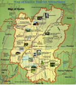 Guilin Tourist Attractions Map