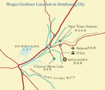 Dunhuang Mogao Grottoes Location Map