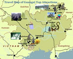 Guangxi Top Attractions Travel Map