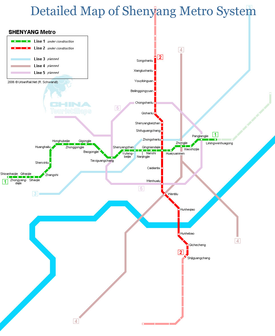 Shenyang Subway Map