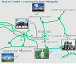 Inner Mongolia Attractions Map