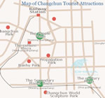 Changchun Attractions Map