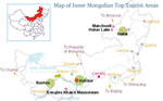 Inner Mongolia Top Tourist Attractions Map