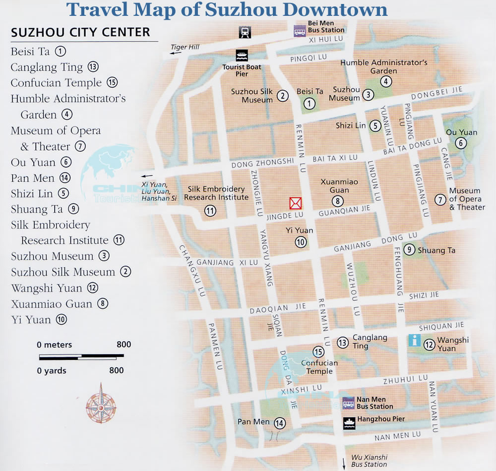 Map Of Suzhou Downtown Center Map Of Suzhou - Suzhou map
