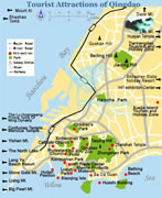 Qingdao Tourist Attractions Map