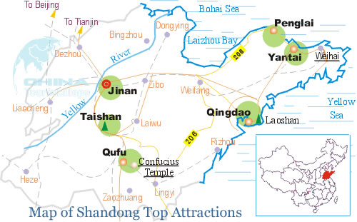 Shandong location top attractions
