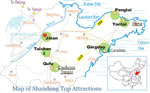 Shandong Attractions Map