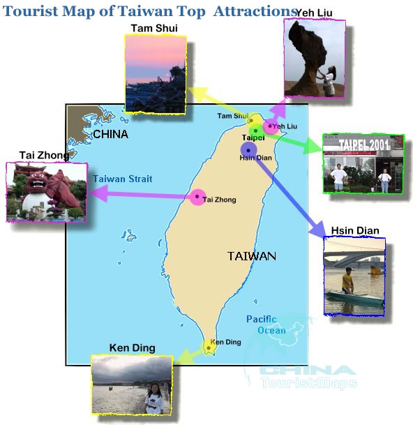 Taiwan Travel Map Tourist Map of Taiwan Taiwan Tour – Taiwan Tourist Attractions Map