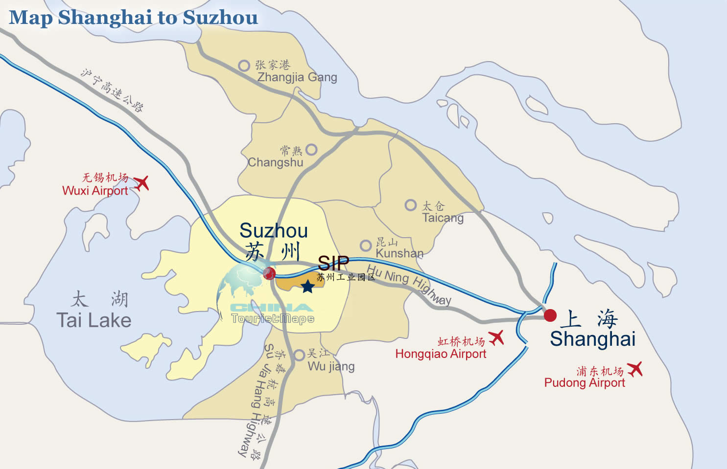 Map Shanghai To Suzhou Distance From Shanghai To Suzhou - Suzhou map