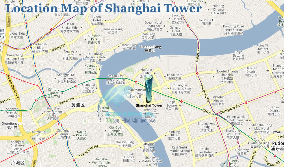 Shanghai Tower Location Map Shanghai Tower Jinmao Mansion – Shanghai Tourist Attractions Map