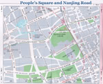 Map of Shanghai People's Square & Nanjing Road