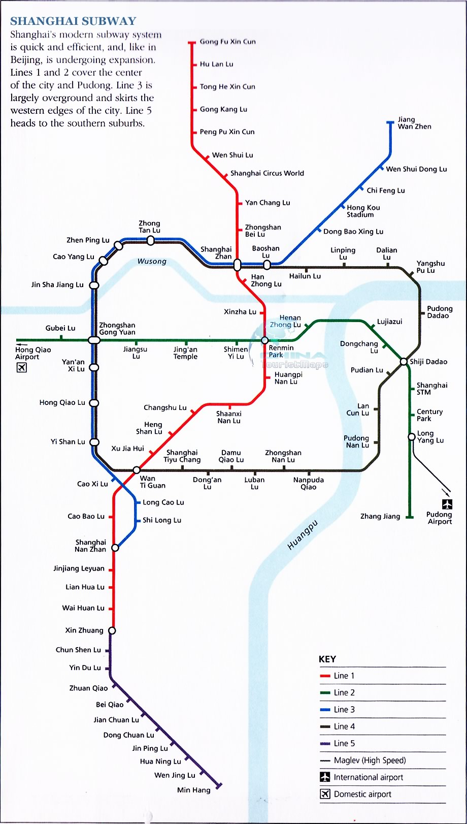 Subway Map In Shanghai.Detailed Map Of Shanghai Subway 2007 And Maglev Train Line