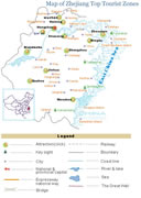 Zhejiang Top Attractions Map