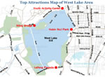 West Lake Top Attractions Map