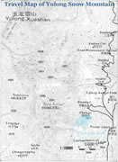 Travel Map of Yulong Snow Mountain