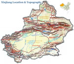 Map of Xinjiang Topography & Location