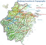 Zhejiang Location & Topography Map