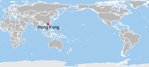 Hong Kong World Map, Hong Kong on World Map