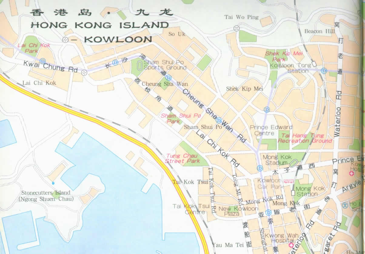 Map of Hong Kong Island