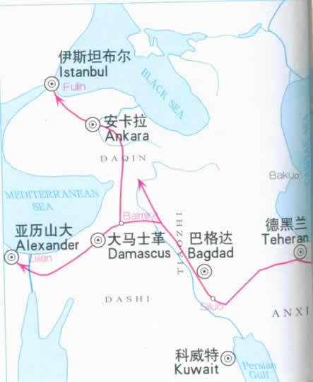 Travel Map of Silk Road, China